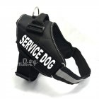 Service Dog Pet Harness for Outdoor Medium Large Satsuma Golden Retriever Dogs Walking black_XL