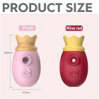 Sex vibrator Cute Funny Egg with Crown Cartoon for Ladies Toys Cosmetic Relieve Fatigue Adult sex toys Rose red