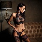 Sexy Lingerie Sexy Erotic Dress Sexy Clothes Nightwear Erspective Tassel Womens Porn Underwear Plus Size black_S