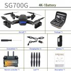 Sg700g Gps Drone With 4k Hd Adjustment Camera Wide Angle 5g Wifi Fpv Rc Quadcopter Professional Foldable Drones Vs Sg907 4K 1 battery
