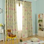Shading Tulle Window Curtain with Cartoon Owl Pattern for Kids Room Bedroom Living Room Owl yellow (cloth)_100 * 250CM (punching processing)