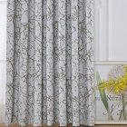 Shading Window Curtain with Branch Pattern for Bedroom Balcony Decoration As shown_1 * 2.5 meters high