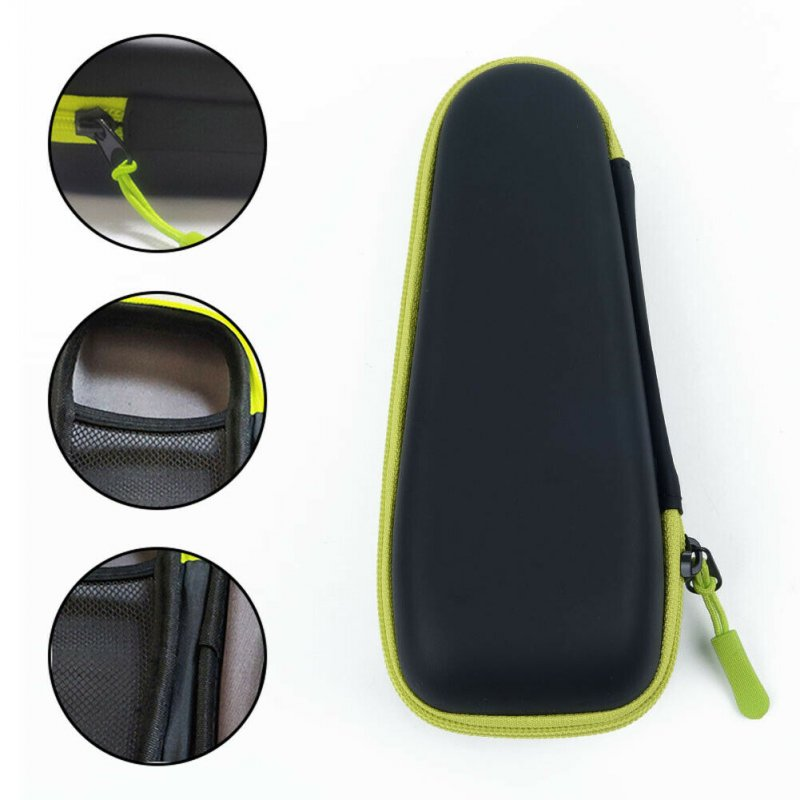 Shaver Storage Bag Hard Box Travel Portable Bag Cover Case For Philips OneBlade black