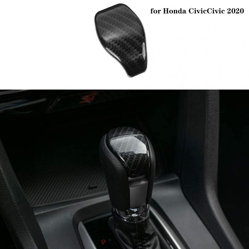Shift Konb Cover ABS Carbon Fiber Style Gear Shifter Knob Decorative Trim for Sedan 2020 2019 2018 2017 2016