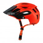 Shock-proof Bicycle Helmet Integrated Molding Breathable Cycling Helmet for Man Woman Orange_M (54-58CM)