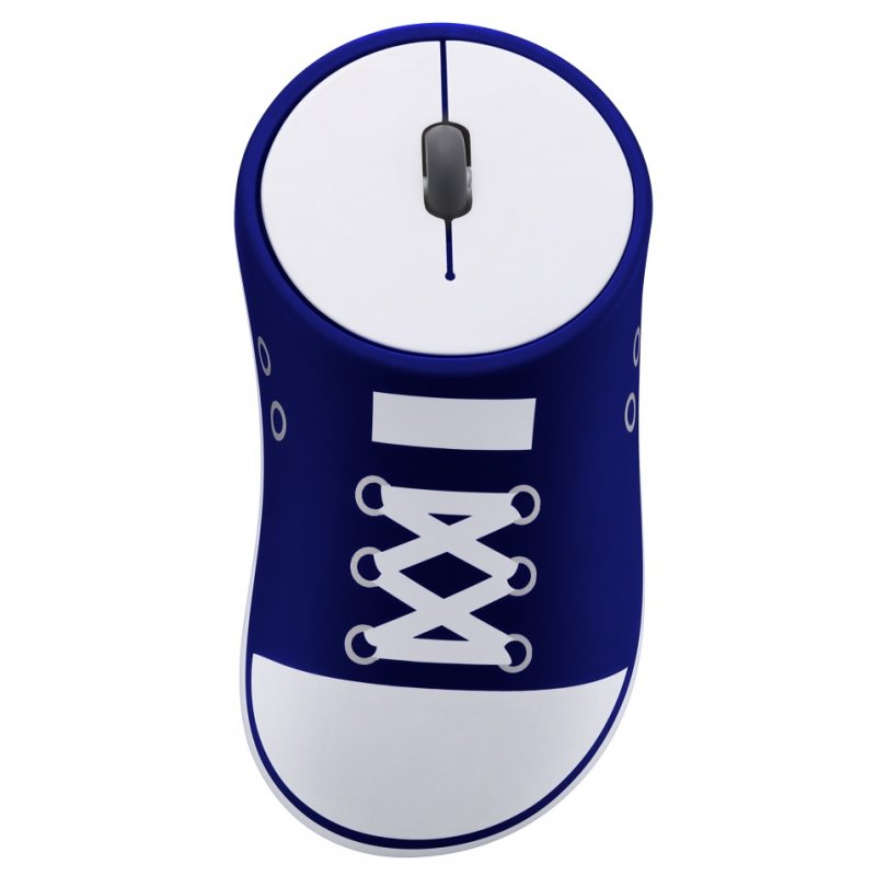 Shoes Shaped Wireless Mouse Portable Mobile Optical Mouse with USB Receiver 2.4GHz Game Ergonomic Mouse  blue