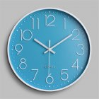 Silent Sweep  Movement Wall Clock Fashion Living Room Wall Clock 12 Inch  30cm Light blue