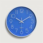 Silent Sweep  Movement Wall Clock Fashion Living Room Wall Clock 12 Inch  30cm blue