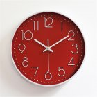 Silent Sweep  Movement Wall Clock Fashion Living Room Wall Clock 12 Inch  30cm red