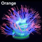 Silicone Artificial Sea Anemone Aquarium Coral Plant Decoration Fish Bowl Ornament 50CM_Orange