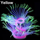 Silicone Artificial Sea Anemone Aquarium Coral Plant Decoration Fish Bowl Ornament 50CM_yellow