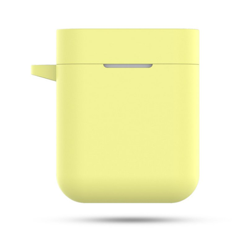 Silicone Earphone Case for Xiaomi Airdots Pro Air Wireless Headset Protective Case For Xiaomi Air TWS Headset Accessories light yellow