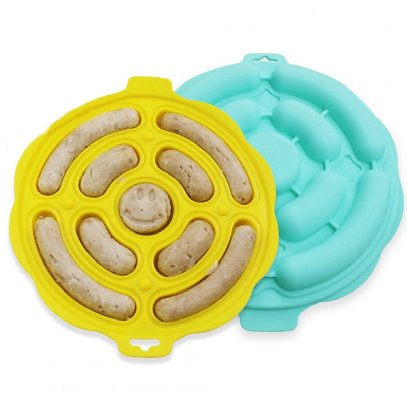 Silicone Hot Dog Make Mould DIY Sausage Making Mold Baking Tools Kitchen Props Mint Green