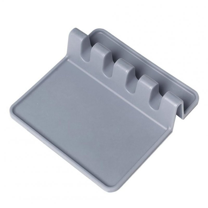 Silicone Kitchenware Pad Insulation Mat Spoon Rest Tableware Holder Heat Resistant gray