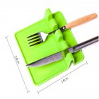 Silicone Kitchenware Pad Insulation Mat Spoon Rest Tableware Holder Heat Resistant green