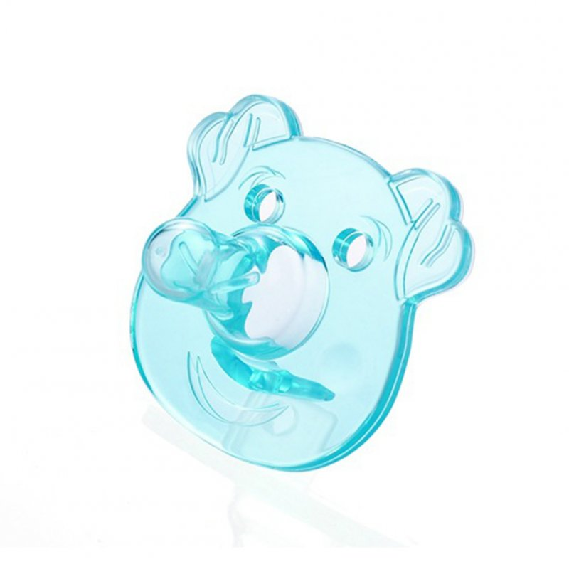 Silicone Pacifiers Baby Cartoon Silicone Teether Pacifiers Newborn Soother Accessories Piggy-Blue