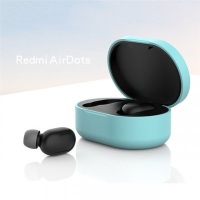 Silicone Protective Cover Earphone Case for Xiaomi Redmi Airdot TWS Bluetooth Earphone Fashion Version Wireless Green
