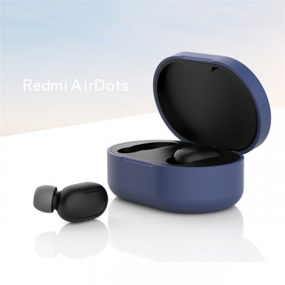 Silicone Protective Cover Earphone Case for Xiaomi Redmi Airdot TWS Bluetooth Earphone Fashion Version Wireless blue
