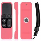 Silicone Remote Controller Case Protective Cover Skin for Apple TV 4th Gen Siri Remote Control Pink