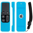 Silicone Remote Controller Case Protective Cover Skin for Apple TV 4th Gen Siri Remote Control Blue