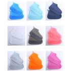 Silicone Shoe Cover Reusable Waterproof Outdoor Camping Slip-resistant Rubber Rain Boot Overshoes Tea gray_M