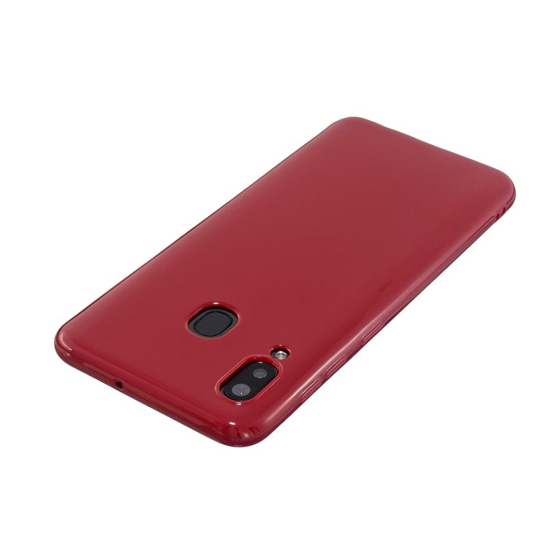 For Samsung A10/A20/A30/A50 Phone Case Soft TPU Overal Protection Precise Cutouts Easy to Install Cellphone Cover  Rose red