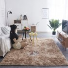 Simple Plush Carpet Bedroom Cute Bedside Blanket Nordic Living Room Sofa Coffee Table Mat Thick Mat Tie-dye khaki_50*160 cm