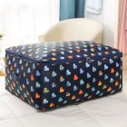 Simple Thicken Cloest Organizer Storabe Bag for Quilt Blanket Luggage dark blue heart_Medium 55*35*20cm