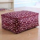 Simple Thicken Cloest Organizer Storabe Bag for Quilt Blanket Luggage Wine red flower_Medium 55*35*20cm