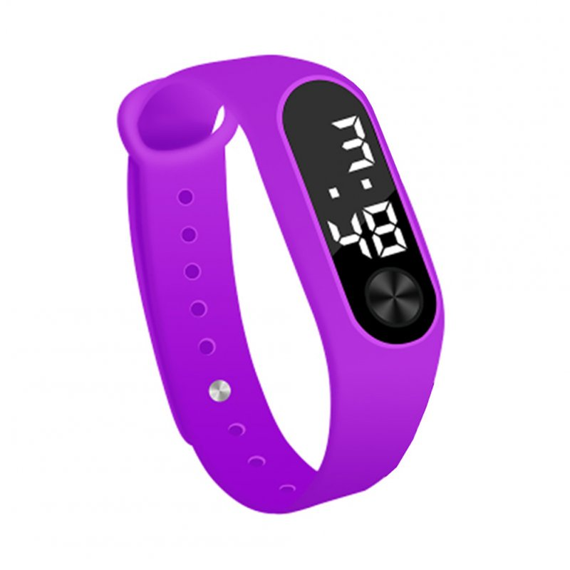 Simple Watch Hand Ring Watch Led Sports Fashion Electronic Watch purple