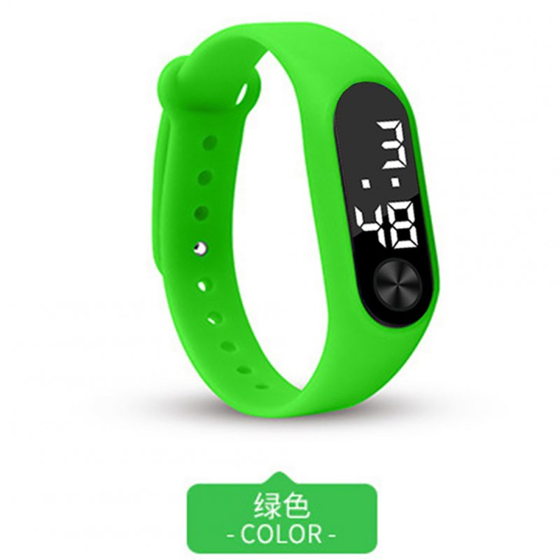 Simple Watch Hand Ring Watch Led Sports Fashion Electronic Watch green