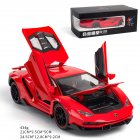 Simulate 1:24 Alloy Sports Car Model Toy for Lamborghini LP770 red