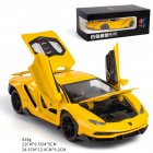 Simulate 1:24 Alloy Sports Car Model Toy for Lamborghini LP770 yellow