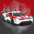 Simulate Alloy Racing Car Model Toy for Ford V8 Collection Home Decoration White top