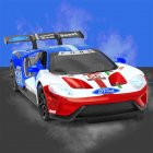 Simulate Alloy Racing Car Model Toy for Ford V8 Collection Home Decoration Blue top
