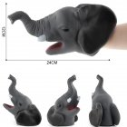 Simulate Animal Hand Puppet Head Hand Puppet Playing Fun Toy for Halloween Prop Home Party Kids Gift A7 elephant