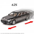 Simulate Car Model 1/24 Maybach 62s Alloy Car Model Sound Light Metal Toy Black silver