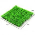 Simulate Green Water Grass Plant Lawn Fish Tank Landscape for Home Aquarium Decor green