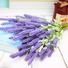 Simulate Lavender Bouquet Artificial Flower Home Wedding Decoration (12 Flower Head per Bouquet) light Purple
