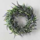 Simulate Lavender Wreath Pretty Garland Floriation Hanging Pendant Decoration for Home Wedding Photo Prop purple