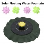 Simulate  Lotus Leaf Solar Fountain For  Bird Bath  Pond Pool  Fish Bowl  Aquarium Garden Decor as shown