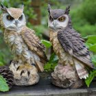 Simulate Owl Shape Decoy Realistic Adornment for Garden Birds Outdoor Decoration random