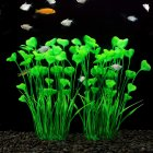 Simulate Plants Artificial Aquarium Plants for Fish Bowl Decoration  Green