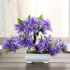 Simulate Potted Plant Cute Microlandschaft Home Office Hotel Decoration   purple