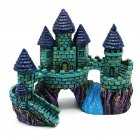 Simulate Resin Castle Landscape Ornament for Aquarium Fish Tank Decoration  blue