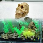 Simulate Resin Skull Landscape Ornament for Reptile Cave Aquarium Terrarium Decoration  Skull skull