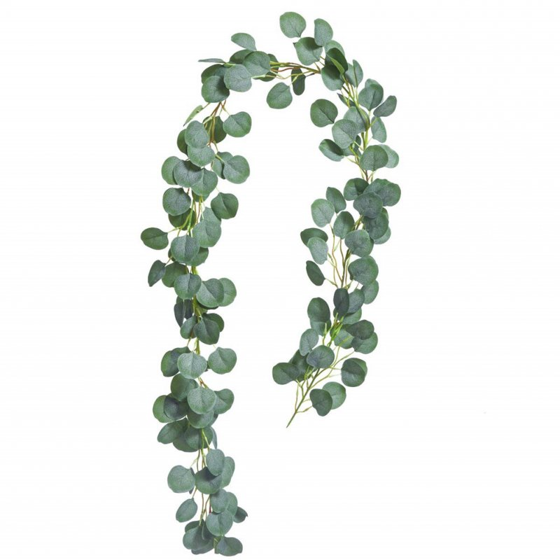Simulate Round Eucalyptus Leaves Rattan for Wedding Background Wall Decor Eucalyptus leaves