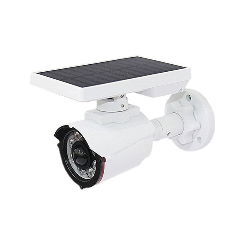 Simulated Solar Camera Lamp Waterproof Wall  Light Dummy Monitor With Motion Sensor