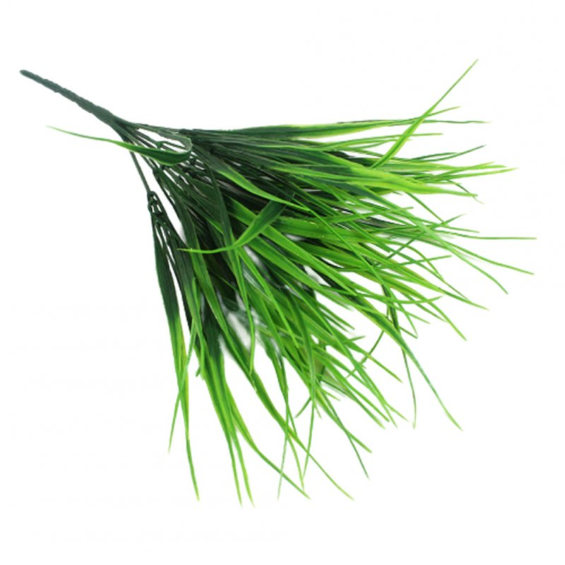 Simulation Grass 7 Bifurcation Small Spring Grass Plastic Flower Pot Partition Restaurant Seedling Plants Decoration 98 leaves