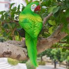 Simulation Parrot Bird Sculpture Wall Hanging Resin Crafts Decor Pendant